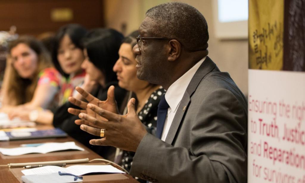 Les survivantes de violences sexuelles interpellent la communauté internationale aux côtés du Dr Mukwege