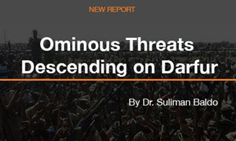 Ominous Threats Descending On Darfur by Suliman Baldo (Enough Project)
