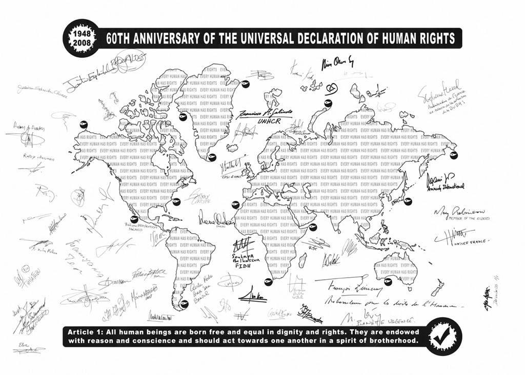 Artwork by Max Dana for the 60th Anniversary of the Universal Declaration of Human Rights