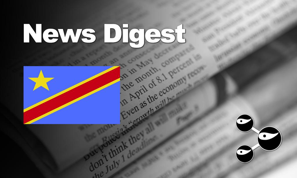 News Digest Congo (DRC): Denis Mukwege, Vaccin Ebola, Massacres à Djugu, Athlétisme, Naufrage,…